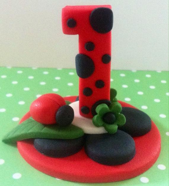 Fantastic Edible 3D Fondant Ladybug Cake Topper Cake Decoration Lady Etsy Funny Birthday Cards Online Alyptdamsfinfo