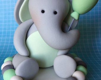 Edible 3D baby ELEPHANT cake topper. Cake decorations. Baby first birthday. Baby shower. Edible toppers