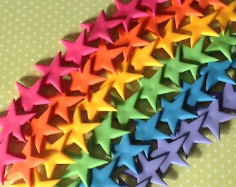 60 Edible fondant RAINBOW STAR cake toppers. Cupcake toppers. Rainbow cake toppers.