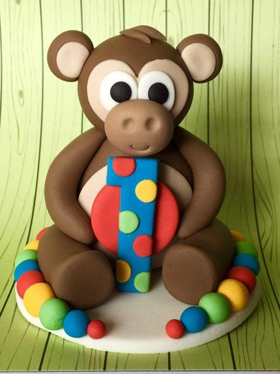 Essbaren Fondant 3d Frechen Affen Kuchen Deckel Kinder Kuchen Etsy