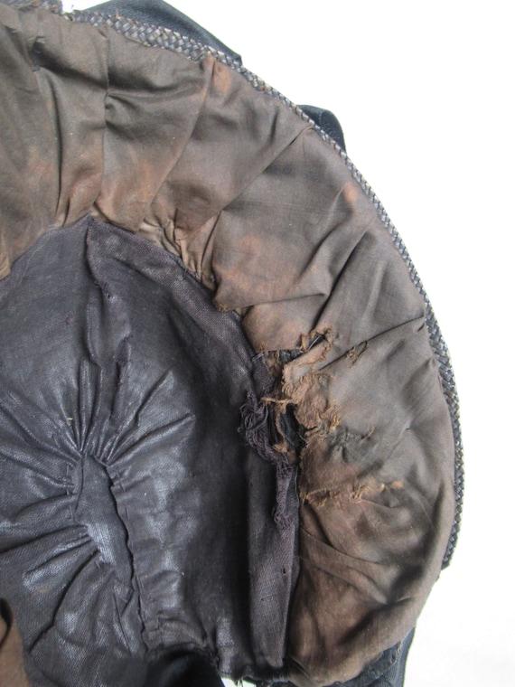 Antique Mourning Bonnet, Civil War Era Widow's Ha… - image 8