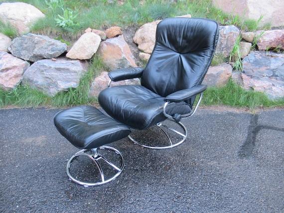 Awesome Vintage Ekornes Stressless Chair With Black Leather Ekornes Stressless Chair From Norway Contemporary Scandinavian Chair By Ekornes C 80S Machost Co Dining Chair Design Ideas Machostcouk