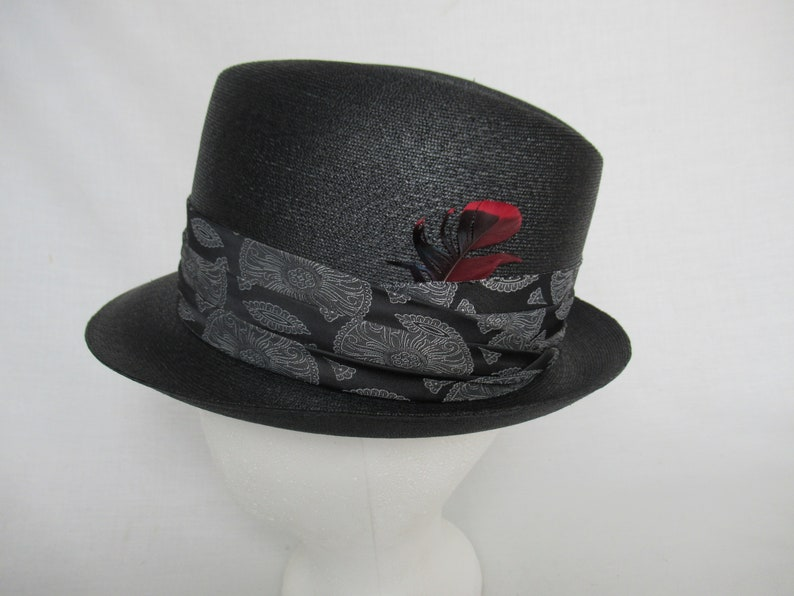 e302d4e48 Vintage Fedora in Black and Gray, Fedora Hat by Dobbs, Men's or Women's  Vintage Fedora Hat, ca. 1950s