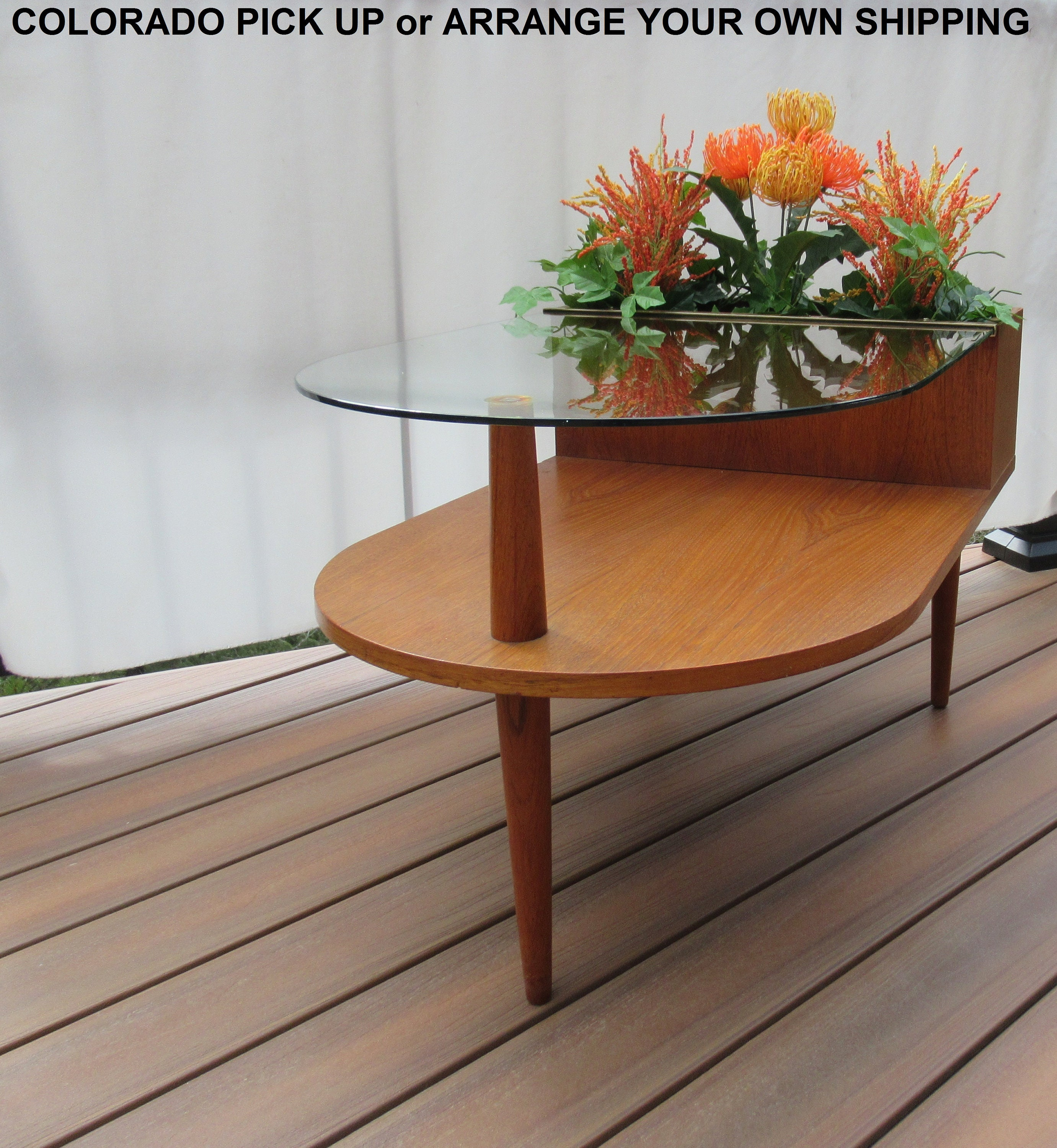 Midcentury Planter End Table By Cfc Silkeborg Danish Midcentury End Table With Planter Box Johannes Andersen Designed Danish End Table