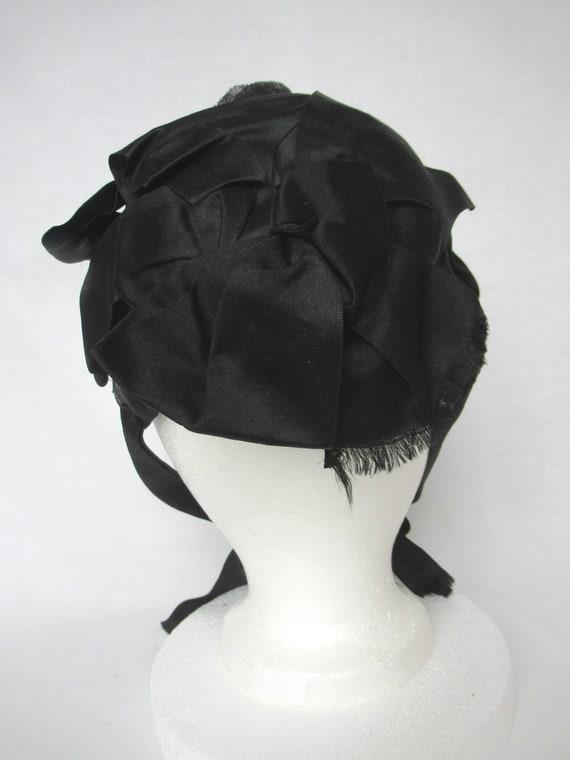 Antique Mourning Bonnet, Civil War Era Widow's Ha… - image 10