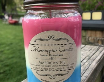 16oz soy candle ~ American Pie (triple layer scent)