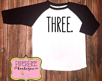 Three Year Old Birthday Shirt Third Boy 3 3rd Outfit Raglan