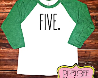 Five Year Old Birthday Shirt Fifth Boy 5 5th Outfit Raglan