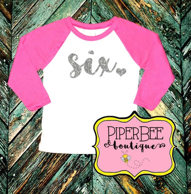Six Year Old Birthday Shirt Sixth Girl 6
