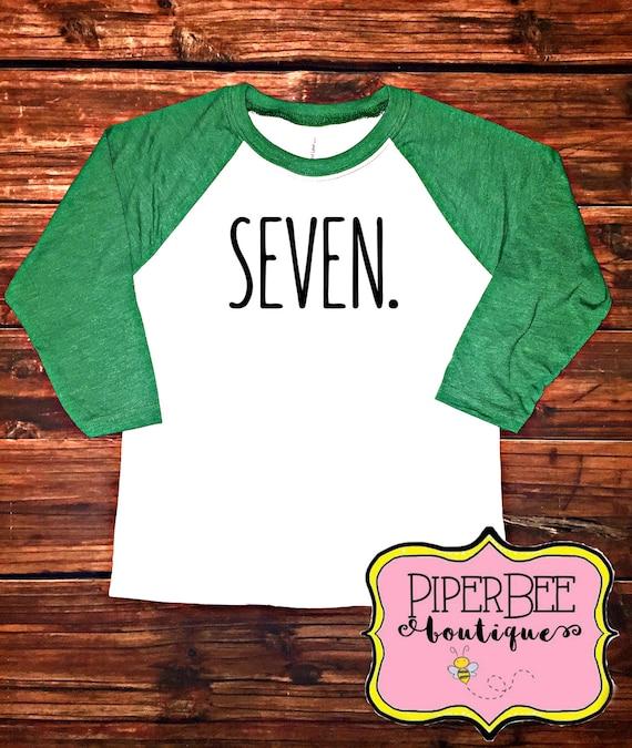 Seven Year Old Birthday Shirt Seventh Boy 7