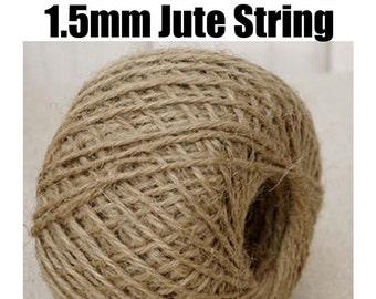 1.5mm x 350ft Natural Jute 2ply Twine / String. Baker Twine / Burlap String / Packaging / Gardening / String / Hemp String / Cord / Wire.