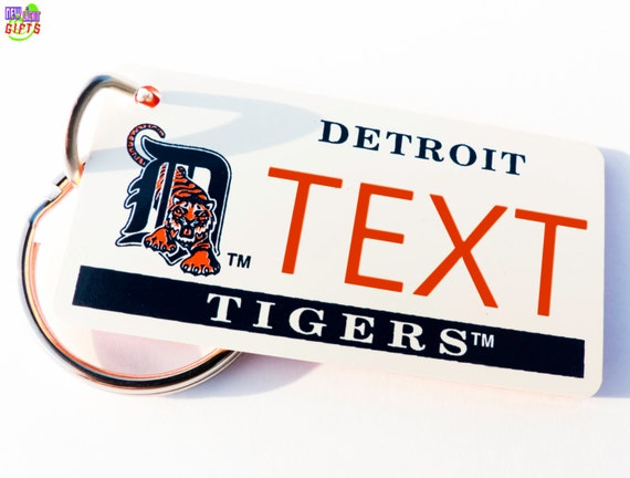 info for a5466 91ac2 Personalized Detroit Tigers Keychain Name Plate - Vintage Keytag - Machine  Engraved - Fan Souvenir - Coach Gift - Licensed MLB Key Ring