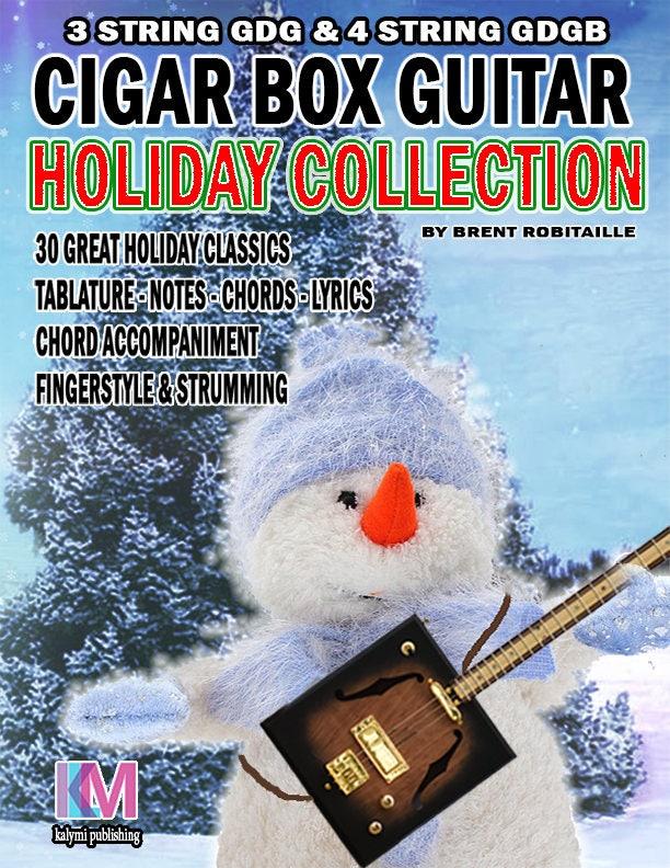 Holiday Collection 3 4 String Cigar Box Guitar