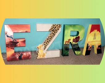 Lion King Letters- Lion King- Simba- Lion King Party- Lion King room-Made to order