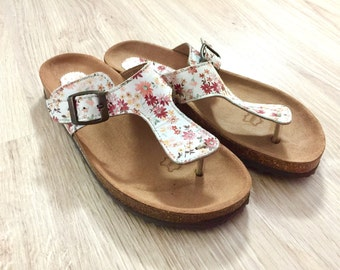 c802836d524a Women Cork and Leather Sandals