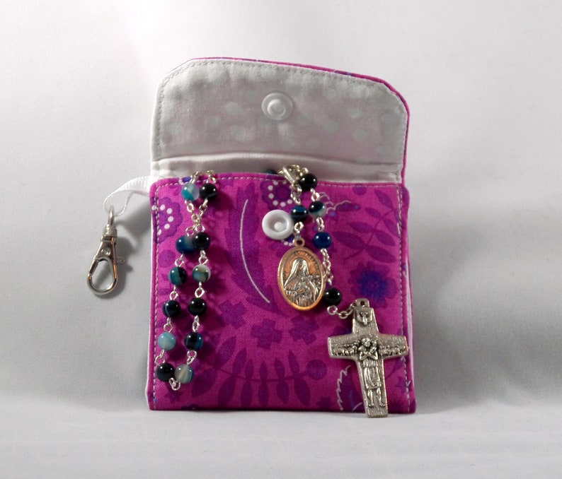 Rosary pouch First Communion gift Rosary case Confirmation gift fabric coin purse