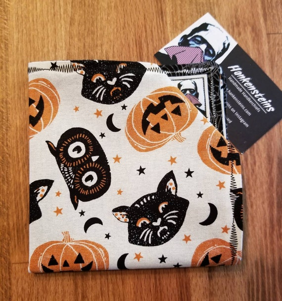 Black Cat Halloween Smart Handkerchief