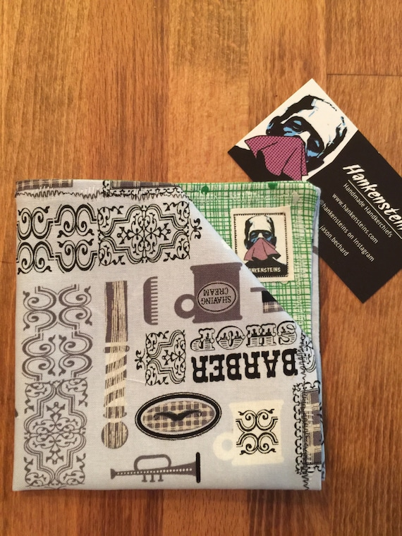 Dapper Barbershop Geek Smart Handkerchief