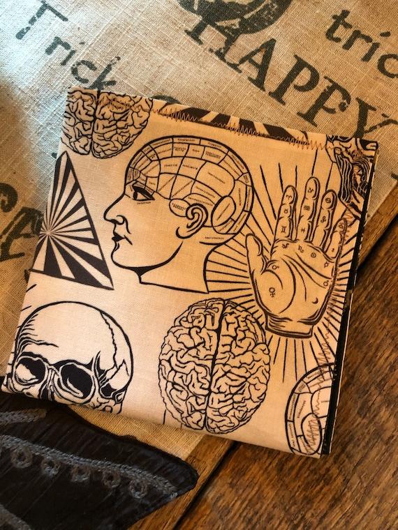 Halloween Phrenology Handkerchief
