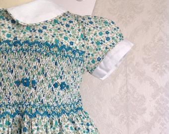 Liberty Tiffany smocked Dress Flower Dress