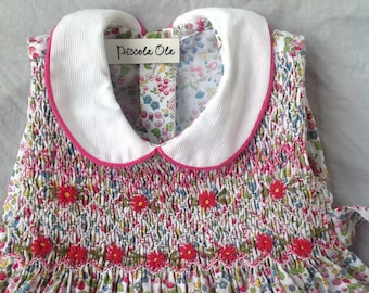 Smocked Pink Dress Fruit Dress