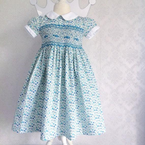 Fiori Liberty.Abito A Fiori Liberty Tiffany Smocked Dress Etsy