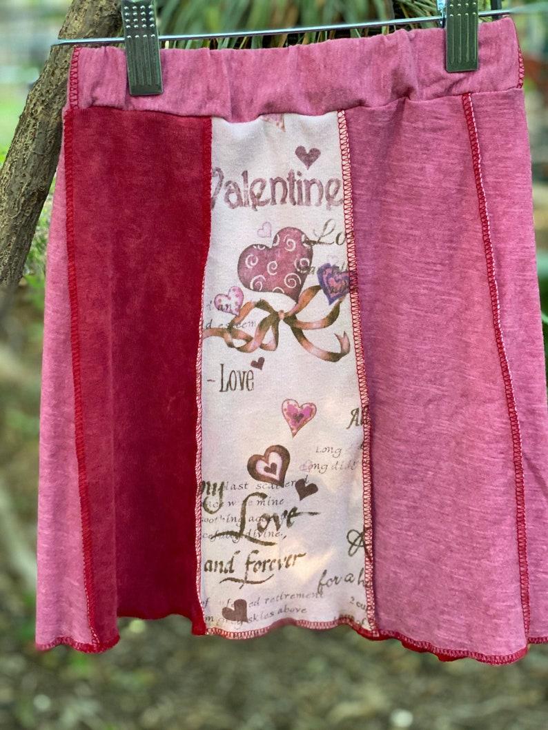 Girls 2T Upcycled Valentines Skirt Eco Fashion,Recycled Clothing
