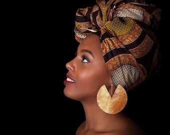 African earrings, extra large hoop earrings, brass ethnic earrings, tribal earrings, bohemian earrings, dangle hook earrings, gift for her