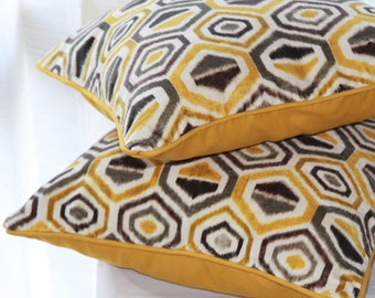 Yellow Cushion Cover,  Yellow Pillow Cover