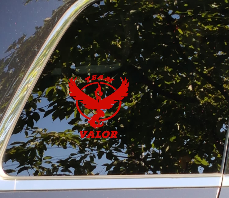 POKEMON GO TEAM VALOR Decal Vinyl Car Window Sticker ANY SIZE