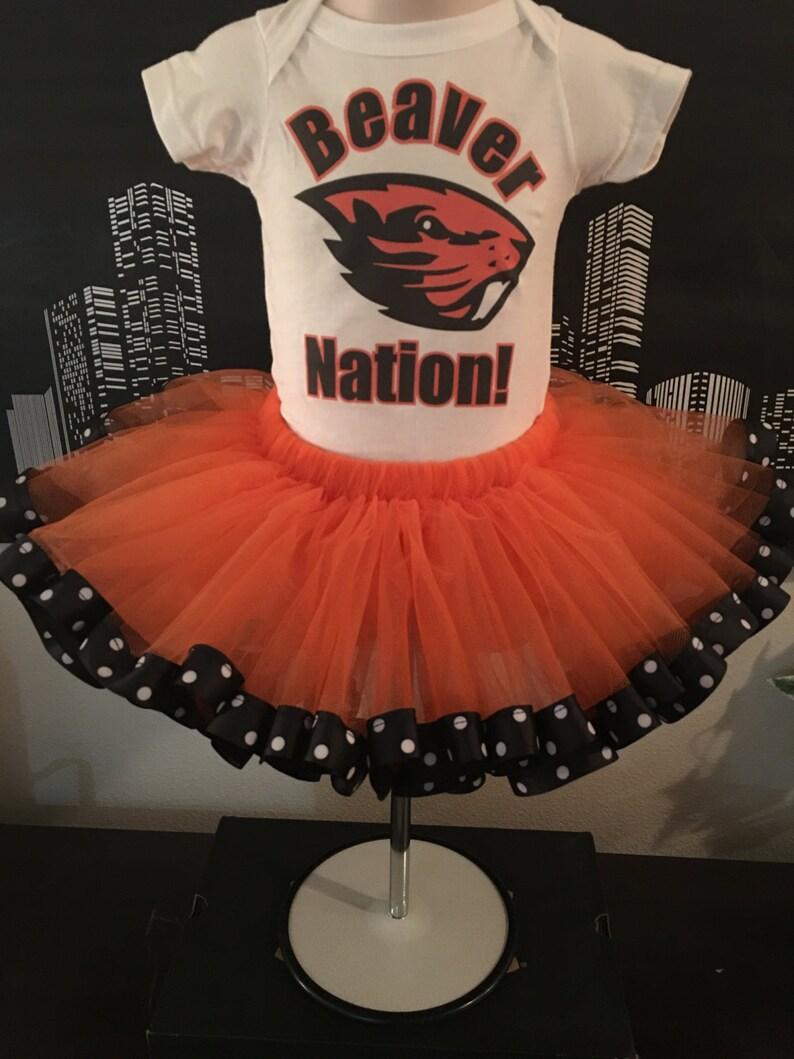 Infant Bodysuit Infant Tutu Orange and Black Tutu,Girls Tutu Adult Tutu Oregon Beaver Tutu Tutu Set Toddler Birthday Tutu