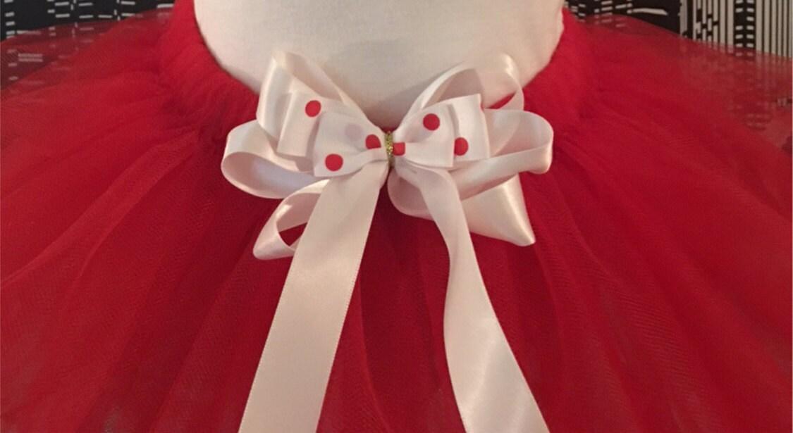 00e1f995b08 Red Tutu with white and polka dot Teen   Adult Tutu Skirt