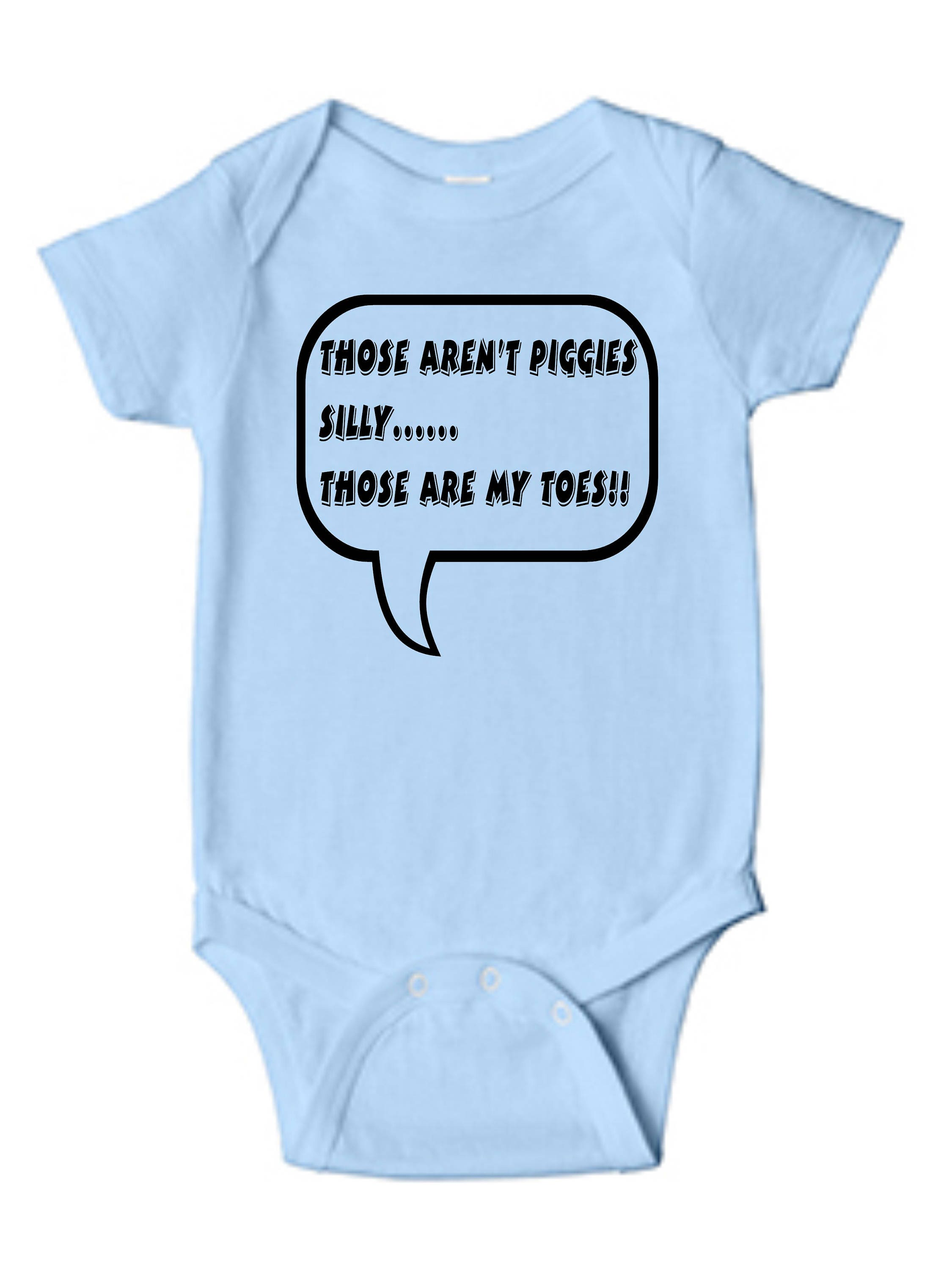 Those Arent Piggies Silly Those are My Toes Baby Vests Bodysuits Boys Girls