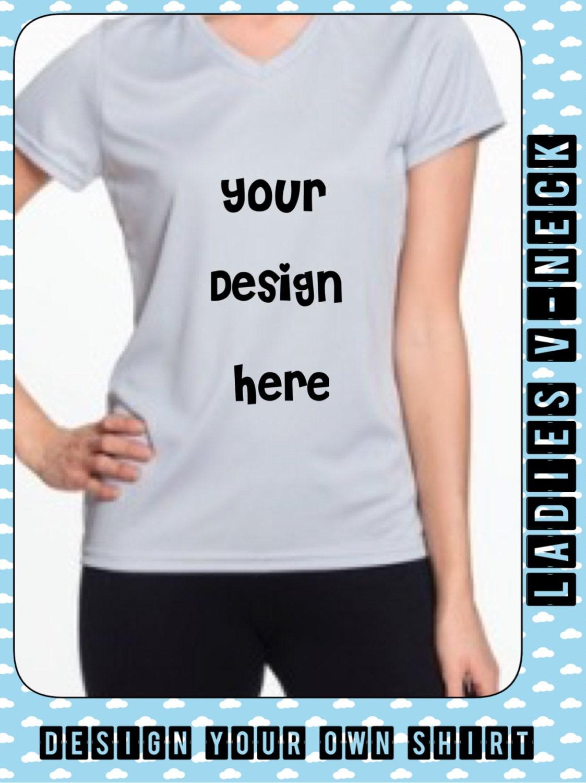 Ladies Active Wear Shirt Design Your Own T Shirt Unique Etsy