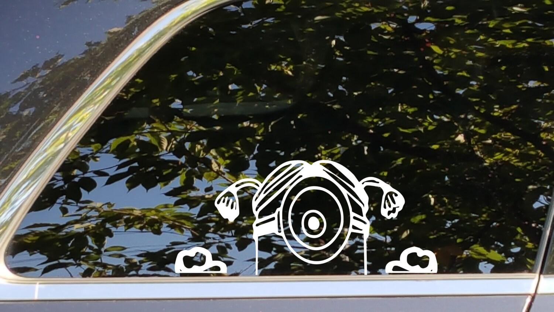 Minion Girl Peeking Vinyl Decal Sticker Accessory For Automotive