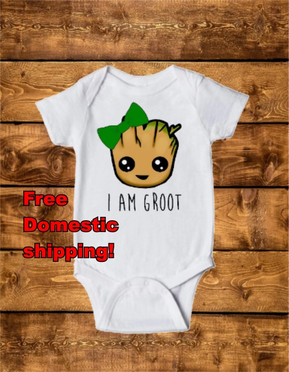 I Am Groot Short Sleeve Infant Toddler Bodysuit One-piece Toddler Cute Jumpsuit