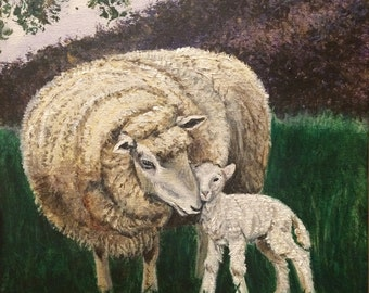 All We Like Sheep, by Handel, Mother sheep and lamb