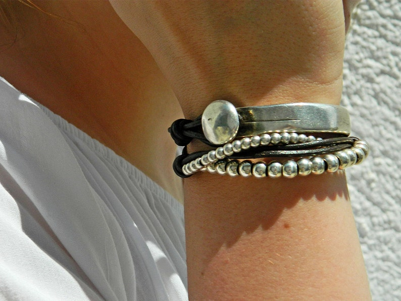 Wrap Boho braceletwrap braceletleather wrap braceletbeaded image 0