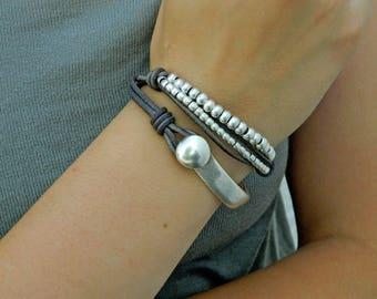 bracelets for women,wrap boho bracelet,wrap bracelet,leather wrap bracelet,leather bracelet for women,leather bracelet,beaded bracelet,PC010