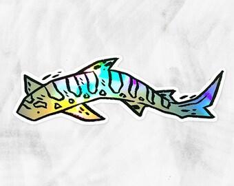 "5"" Holographic Shark Sticker"