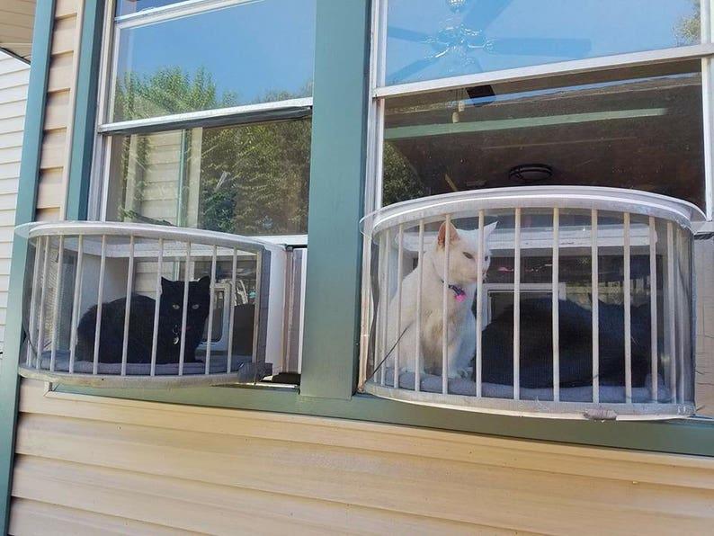 Cat Solarium-The Penthouse Package Cat Window Box.  This catio image 3