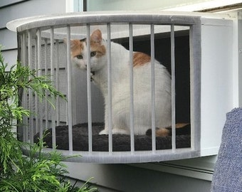 Cat Solarium Conservatory Package The Ultimate Cat Window Box. Cat Solarium catio: The Ultimate small catio.  This catio is easy to install.