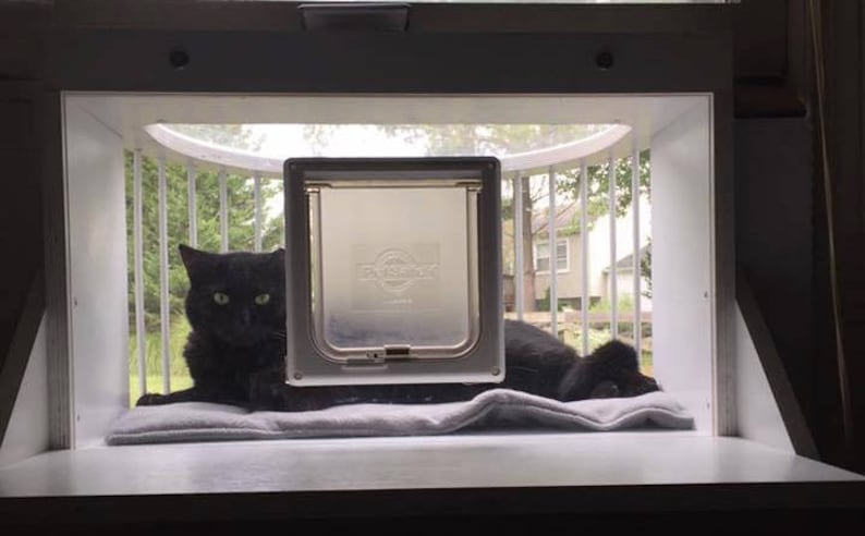 Cat Solarium-The Penthouse Package Cat Window Box.  This catio image 9