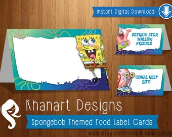 Instant Download: Sponge Bob Food Labels