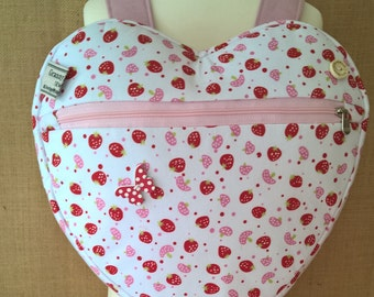 705f46cd84 girl s strawberry and mushroom heart backpack