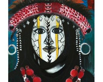 West African tribeswoman