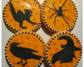 Halloween Silhouette Sugar Cookies