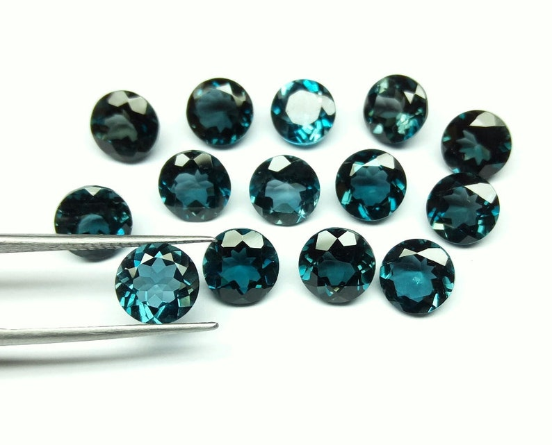 Natural London Blue Topaz Round Cut Gemstone Wholesale Calibrated Size 3mm To 8mm Blue Topaz Round VS Clarity Loose Gemstone