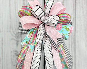 Easter Bow Front door Bow Wreath Bow Bunny bow Lantern Bow