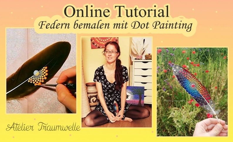 Online Video Tutorial  Federn bemalen mit Dot image 0